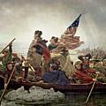Washington Crossing The Delaware River by Emanuel Gottlieb Leutze