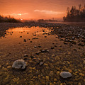 Water on Mars Print by Davorin Mance