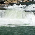 Waterfall At Ohiopyle State Park by Larry Ricker