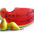 Watermelon And Pears by Carlos Caetano