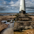 Welsh Lighthouse  Print by Adrian Evans