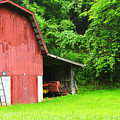 West Virginia Barn And Baler by Thomas R Fletcher