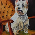 Westie Angel Dusty by Donna Pierce-Clark