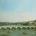 Westminster Bridge From The North With Lambeth Palace In Distance by Canaletto