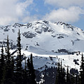 Whistler Mountain Peak View From Blackcomb by Pierre Leclerc Photography
