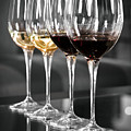 White And Red Wine Glasses by Edward Duckitt