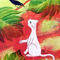 White Cat Black Bird by Susan Greenwood Lindsay