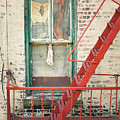 Window And Red Fire Escape by Gary Heller