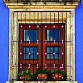 Window In Blue With Baubles by Mexicolors Art Photography