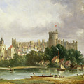 Windsor Castle - From The Thames by Alfred Vickers