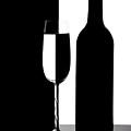 Wine Silhouette by Tom Mc Nemar