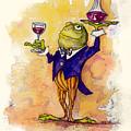 Wine Steward Toady by Peggy Wilson