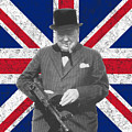 Winston Churchill And His Flag by War Is Hell Store