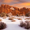 Winter Dawn At Arches National Park by Utah Images