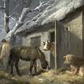 Winter Farmyard by George Morland