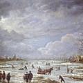 Winter Landscape by Aert van der Neer