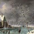 Winter Scene by Louis Claude Mallebranche