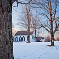 Winter Sunset In New Salem by Susan Cole Kelly