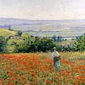 Woman In A Poppy Field by Leon Giran Max