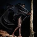 Woman In Black Flying Outfit by Oleksiy Maksymenko
