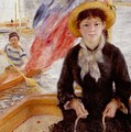 Woman In Boat With Canoeist by Renoir