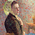 Woman Wearing A Green Headscarf by Camille Pissarro