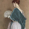 Woman With A Fan by John Dawson Watson