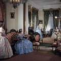 Women In Period Costumes Sit In An by Willard Culver