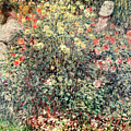 Women In The Flowers by Claude Monet