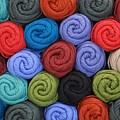 Wool Yarn Skeins by Jim Hughes