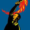 Worker With Torch by Aloysius Patrimonio