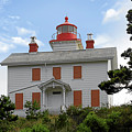 Yaquina Lighthouses - Yaquina Bay Lighthouse Oregon by Christine Till
