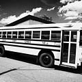 yellow american bluebird school bus in Lynchburg tennessee usa by Joe Fox