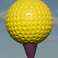 Yellow Golf Ball by Carl Purcell