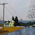 Yellow House In March by Laurie Breton