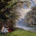 Young Ladies By A River by John Edmund Buckley