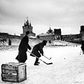 Young Russians Playing Hockey by Everett
