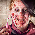 Zombie At Dentist Holding Toothbrush. Tooth Decay by Jorgo Photography - Wall Art Gallery