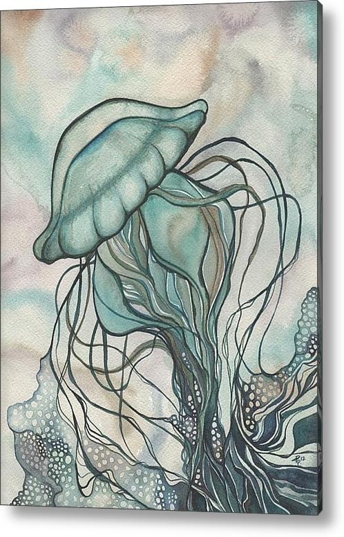Tamara Phillips - Black Lung Green Jellyfis... Print