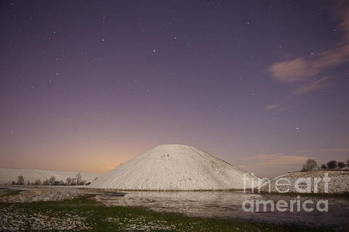 Pete Glastonbury - Silbury Hill Frozen In Th... Print