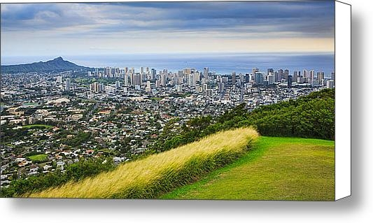 Ami Parikh - Diamond Head and the City... Print