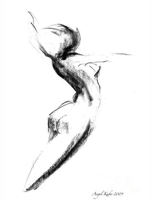Angel Kubo - Charcoal Figure No.8 Print