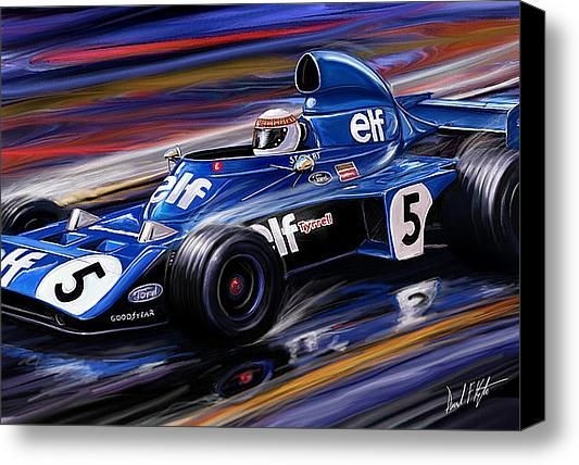 David Kyte - Jackie Stewart in the Rai... Print