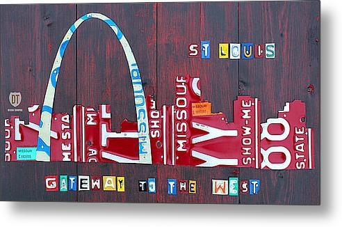 Design Turnpike - St. Louis Skyline License... Print