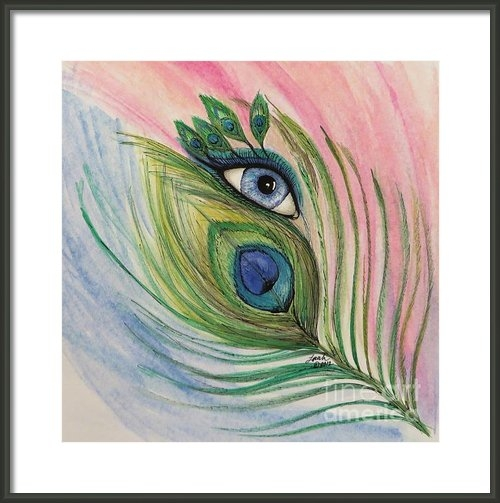 Lorah Buchanan - Eye of the Peacock Print