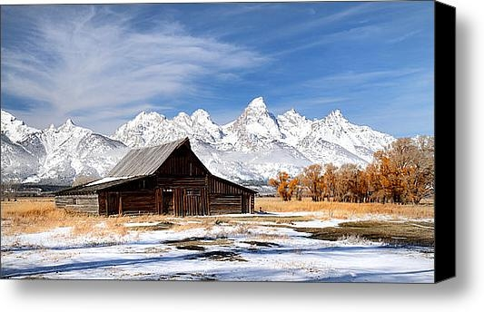 Pierre Leclerc - Famous Barn on Mormon row... Print