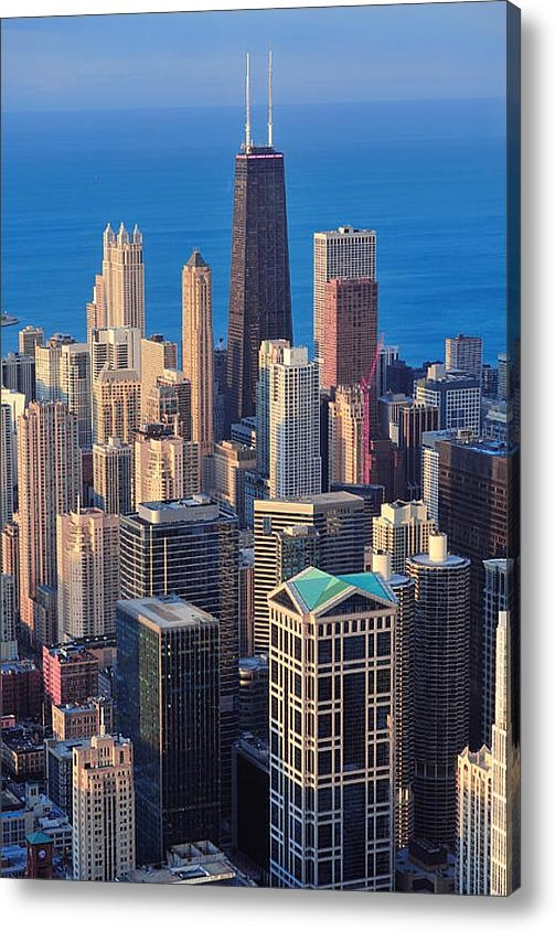 Songquan Deng - Chicago aerial view Print