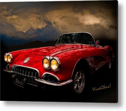 Chas Sinklier - 60 Corvette Roadster in R... Print