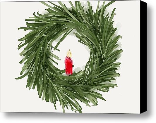 Barbara Bellissimo - Simple Wreath Print