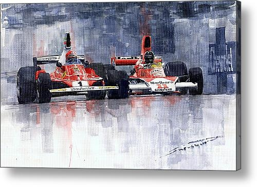 Yuriy Shevchuk - Lauda vs Hunt Long Beach ... Print